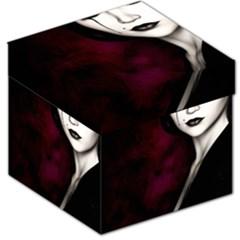 Goth Girl Red Eyes Storage Stool 12