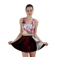 Goth Girl Red Eyes Mini Skirt