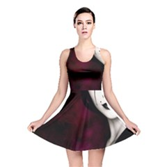 Goth Girl Red Eyes Reversible Skater Dress