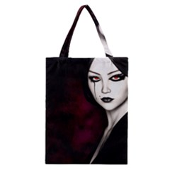 Goth Girl Red Eyes Classic Tote Bag