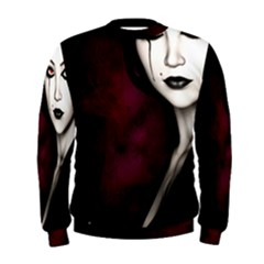 Goth Girl Red Eyes Men s Sweatshirt