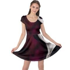 Goth Girl Red Eyes Cap Sleeve Dresses