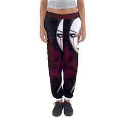 Goth Girl Red Eyes Women s Jogger Sweatpants