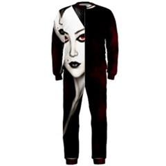 Goth Girl Red Eyes OnePiece Jumpsuit (Men)