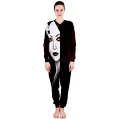 Goth Girl Red Eyes OnePiece Jumpsuit (Ladies)