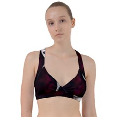 Goth Girl Red Eyes Sweetheart Sports Bra