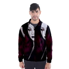 Goth Girl Red Eyes Wind Breaker (Men)