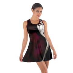 Goth Girl Red Eyes Cotton Racerback Dress