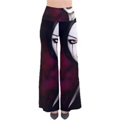 Goth Girl Red Eyes Pants