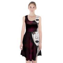 Goth Girl Red Eyes Racerback Midi Dress
