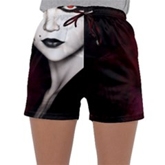 Goth Girl Red Eyes Sleepwear Shorts