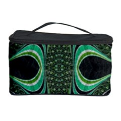 Fractal Art Green Pattern Design Cosmetic Storage Case