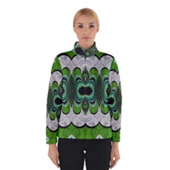 Fractal Art Green Pattern Design Winterwear