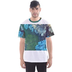 Fractal Formula Abstract Backdrop Men s Sports Mesh Tee