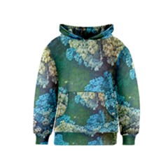 Fractal Formula Abstract Backdrop Kids  Pullover Hoodie