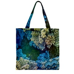 Fractal Formula Abstract Backdrop Zipper Grocery Tote Bag