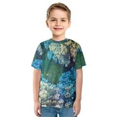 Fractal Formula Abstract Backdrop Kids  Sport Mesh Tee