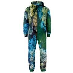 Fractal Formula Abstract Backdrop Hooded Jumpsuit (men)
