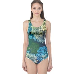 Fractal Formula Abstract Backdrop One Piece Swimsuit