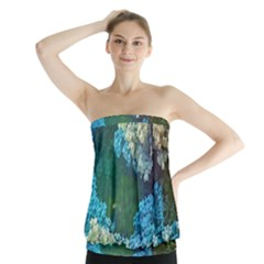 Fractal Formula Abstract Backdrop Strapless Top