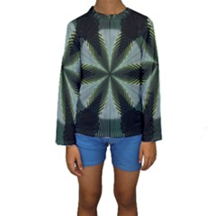 Lines Abstract Background Kids  Long Sleeve Swimwear