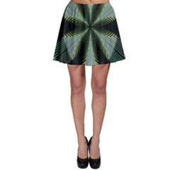 Lines Abstract Background Skater Skirt