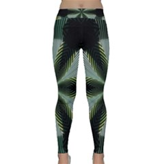 Lines Abstract Background Classic Yoga Leggings