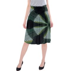 Lines Abstract Background Midi Beach Skirt