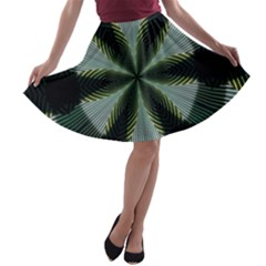 Lines Abstract Background A Line Skater Skirt