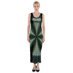 Lines Abstract Background Fitted Maxi Dress