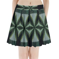 Lines Abstract Background Pleated Mini Skirt