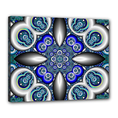 Fractal Cathedral Pattern Mosaic Canvas 20  x 16
