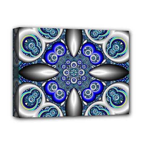 Fractal Cathedral Pattern Mosaic Deluxe Canvas 16  X 12