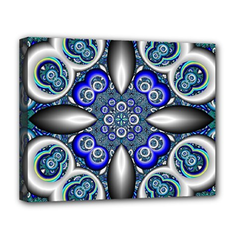 Fractal Cathedral Pattern Mosaic Deluxe Canvas 20  x 16