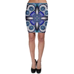 Fractal Cathedral Pattern Mosaic Bodycon Skirt