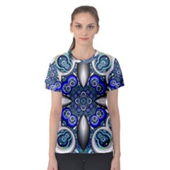 Fractal Cathedral Pattern Mosaic Women s Sport Mesh Tee
