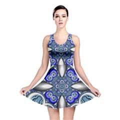 Fractal Cathedral Pattern Mosaic Reversible Skater Dress