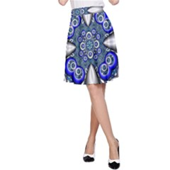 Fractal Cathedral Pattern Mosaic A-Line Skirt