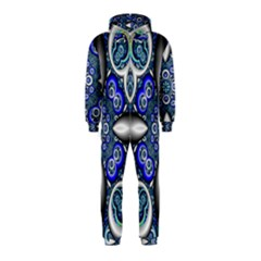 Fractal Cathedral Pattern Mosaic Hooded Jumpsuit (Kids)
