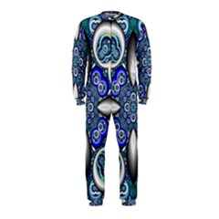 Fractal Cathedral Pattern Mosaic Onepiece Jumpsuit (kids)