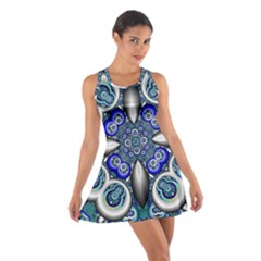 Fractal Cathedral Pattern Mosaic Cotton Racerback Dress