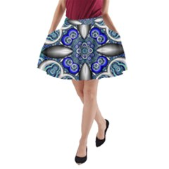 Fractal Cathedral Pattern Mosaic A-Line Pocket Skirt