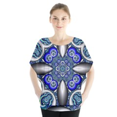 Fractal Cathedral Pattern Mosaic Blouse