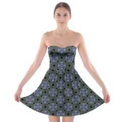 Space Wallpaper Pattern Spaceship Strapless Bra Top Dress