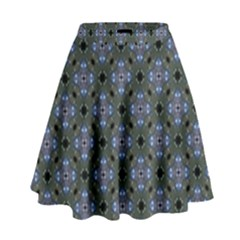 Space Wallpaper Pattern Spaceship High Waist Skirt