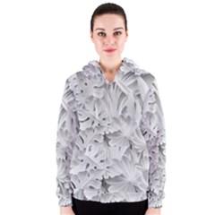 Pattern Motif Decor Women s Zipper Hoodie
