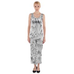 Pattern Motif Decor Fitted Maxi Dress