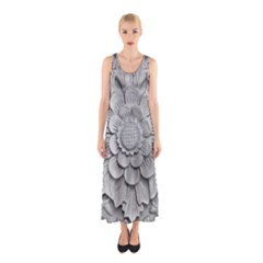 Pattern Motif Decor Sleeveless Maxi Dress
