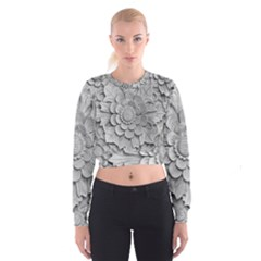 Pattern Motif Decor Cropped Sweatshirt