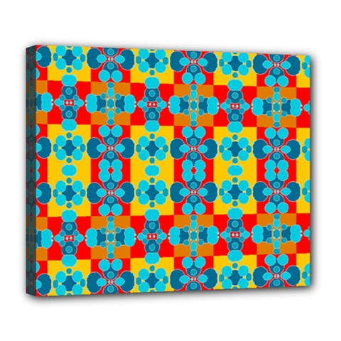 Pop Art Abstract Design Pattern Deluxe Canvas 24  X 20